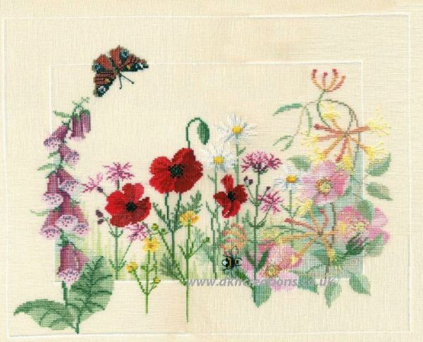 Summer Wild Flowers Cross Stitch Kit